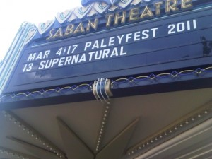 PaleyFest 2011: Supernatural, Part 1 The Pre-Panel Festivities