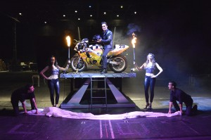 Michael Grandinetti 2014 Tour - Fire to Motorcycle Appearance