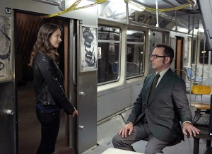 POI's Amy Acker and Michael Emerson Tour the Subway Set