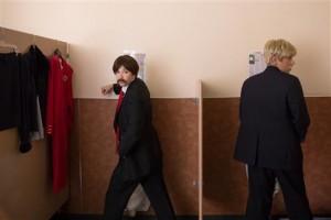 Fred Armisen, Carrie Brownstein, Peter Giles- Photo Credit: Augusta Quirk/IFC