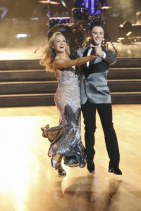 """DANCING WITH THE STARS - """"Episode 2009"""" - Four remaining couples advanced to the SEMI-FINALS on """"Dancing with the Stars"""" this MONDAY, MAY 11 (8:00-10:01 p.m. ET). The competition was neck and neck as each couple fought to make it to the top 3 and dance in the finale. (ABC/Adam Taylor) NASTIA LIUKIN, SASHA FARBER"""