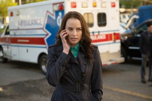 """CONTINUUM -- """"Rush Hour"""" Episode 402 -- Pictured: Rachel Nichols as Kiera Cameron-- (Photo by: Diyah Pera/Reunion Pictures/Syfy)"""