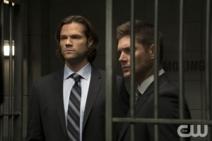 """Supernatural -- """"Our Little World"""" -- Image SN1106a_0334.jpg -- Pictured (L-R): Jared Padalecki as Sam and Jensen Ackles as Dean -- Photo: Katie Yu/The CW -- © 2015 The CW Network, LLC. All Rights Reserved."""