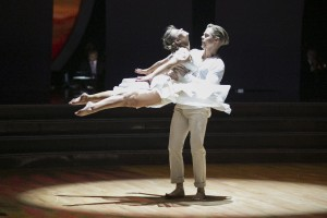"""DANCING WITH THE STARS - """"Episode 2111"""" - After weeks of competitive dancing, the final four couples advanced to the FINALS of """"Dancing with the Stars"""" this MONDAY, NOVEMBER 23 (8:00-10:01 p.m., ET). The finalists competed in two rounds of dance. In the first round, one judge helped each couple choose the creative elements of each dance, which is a re-do to a new song. In the second round, in one of the biggest competitive dances of the season, the couples took on a freestyle dance featuring special effects, additional dancers and unexpected surprises. At the end of the night, the couple with the lowest combined viewer and judge votes from the previous two weeks was eliminated. (ABC/Adam Taylor) BINDI IRWIN, DEREK HOUGH"""