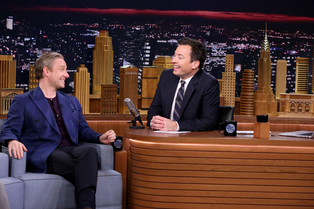 """VIDEO of the Day: Martin Freeman Talks His """"Exciting"""" Captain America """"Costume"""" on The Tonight Show"""