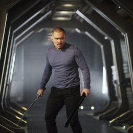 """DARK MATTER -- """"Take the Shot"""" Episode 210 -- Pictured: Alex Mallari Jr. as Four -- (Photo by: Russ Martin/Prodigy Pictures/Syfy)"""
