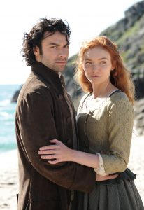 MASTERPIECE Poldark, Season 2 Premieres Sunday, September 25th at the special time of 8pm ET on PBS Shown: Aidan Turner as Ross Poldark and Eleanor Tomlinson as Demelza (C) Mammoth Screen for BBC and MASTERPIECE