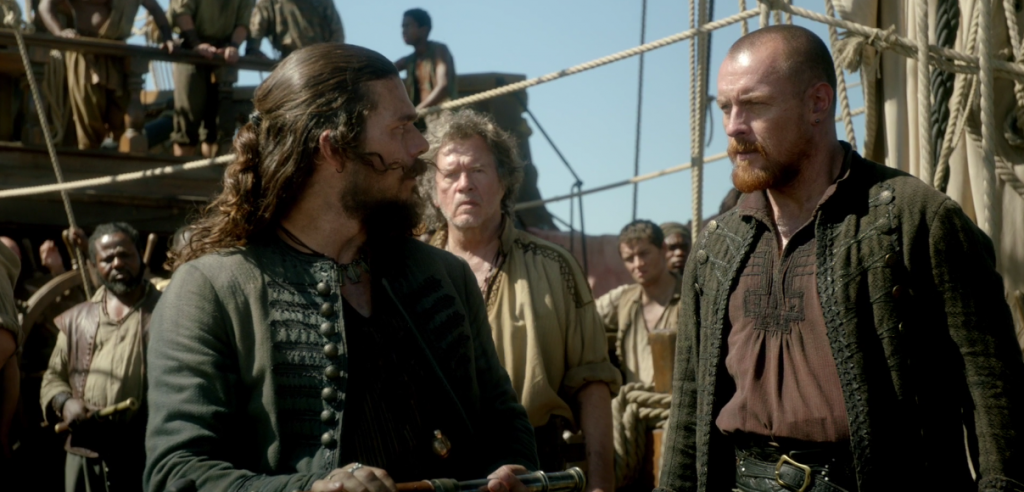 Black Sails Season 4 Episode 8 Luke Arnold Toby Stephens