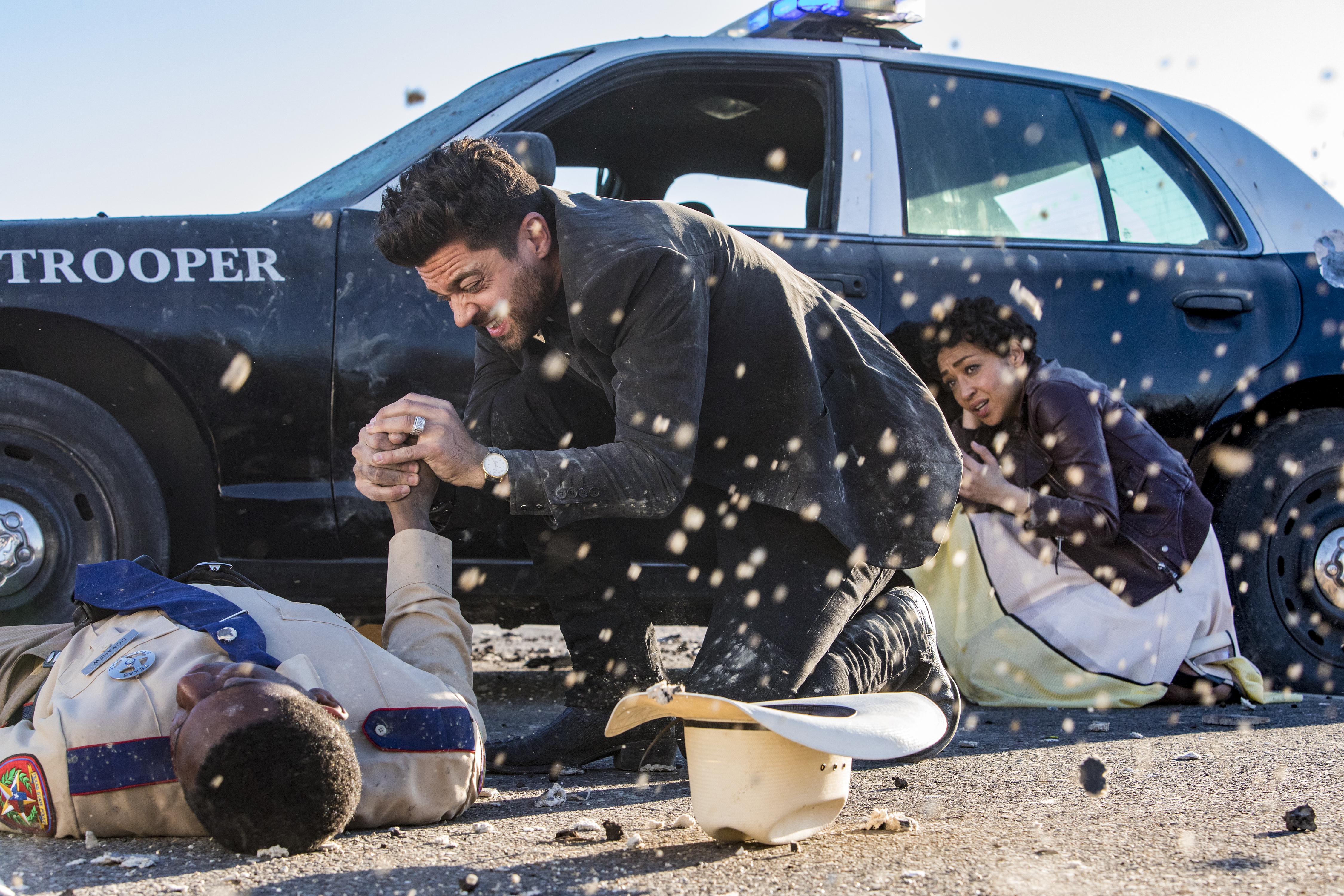 Dominic Cooper and Ruth Negga Preacher Season 2 Episode 1