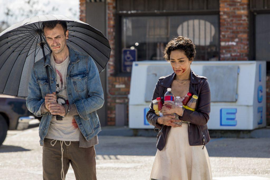 Ruth Negga as Tulip O'Hare, Joseph Gilgun as Cassidy - Preacher _ Season 2, Episode 1
