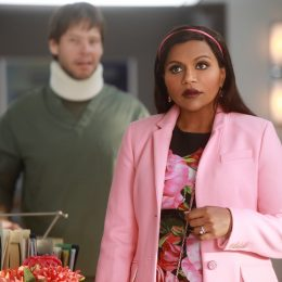 "THE MINDY PROJECT -- ""A Romantical Decouplement?"" Episode 602 -- Mindy and BenÕs relationship is put to the test when Ben gets an interview for a job in Philadelphia. Meanwhile, Anna gets the girls of the office together for an ill-fated girlsÕ night where Tamra realizes she might have feelings for a co-worker. Morgan Tookers (Ike Barinholtz) and Dr. Mindy Lahiri (Mindy Kaling), shown. (Photo by: Jordin Althaus/Hulu)"