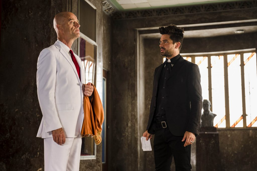 Pip Torrens Dominic Cooper Preacher season 2 finale End of the Road