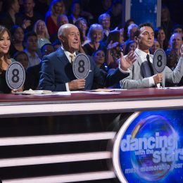 "DANCING WITH THE STARS - ""Episode 2504"" - The 11 remaining celebrities wax nostalgic as they stroll down memory lane and celebrate with a dance to a time in their lives that left a lasting impression, as Most Memorable Year night comes to ""Dancing with the Stars,"" live, MONDAY, OCTOBER 9 (8:00-10:01 p.m. EDT), on The ABC Television Network. (ABC/Eric McCandless) CARRIE ANN INABA, LEN GOODMAN, BRUNO TONIOLI"