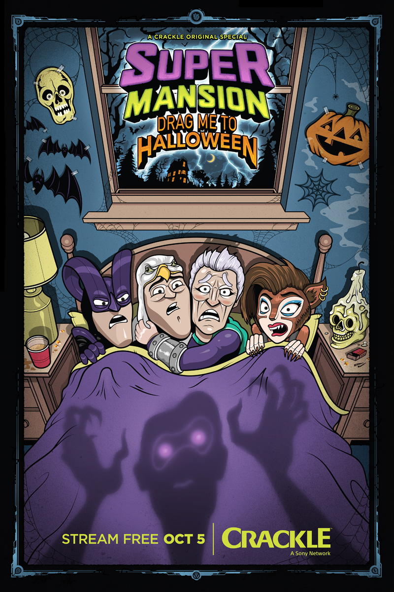 Superhero Goodness: Preview of SuperMansion Halloween Special