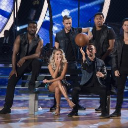 """DANCING WITH THE STARS - """"Episode 2509"""" - The five remaining couples advance to the Semi-Finals as the competition heats up in anticipation of next week's crowning of the coveted Mirrorball trophy, on """"Dancing with the Stars,"""" live, MONDAY, NOV. 13 (8:00-10:01 p.m. EST), on The ABC Television Network, streaming and on demand. (ABC/Eric McCandless) WITNEY CARSON, FRANKIE MUNIZ"""